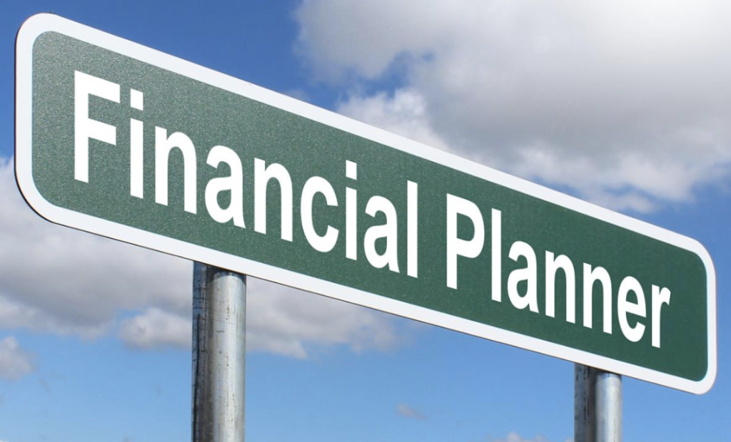 sign saying financial planner