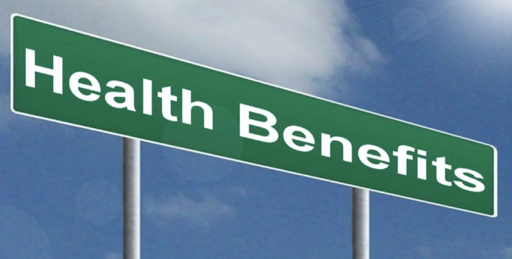 Health Benefits Sign